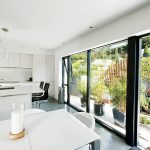 Sliding kitchen doors