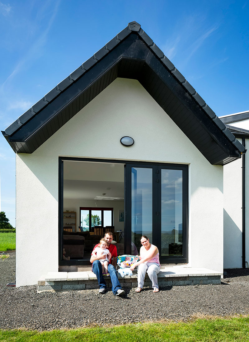 For rodney and emma mckay of co down building a traditional bungalow was out of the question and the result is very different indeed to what youd