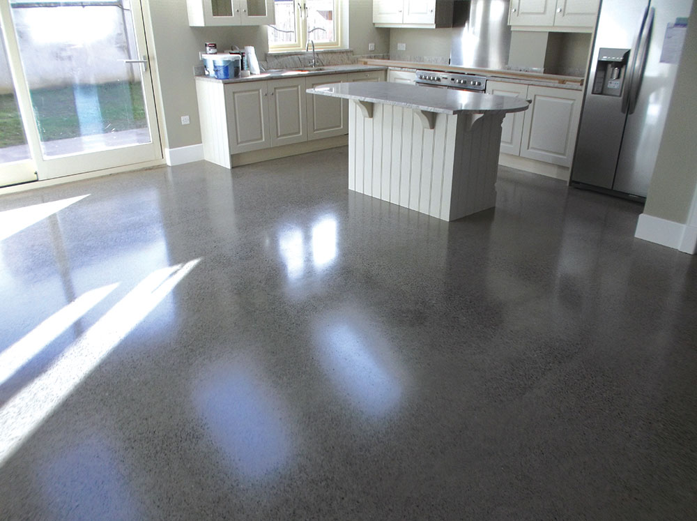 Are polished concrete floors expensive home fatare for Residential concrete floor wax